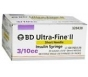 "BD Ultrafine II Insulin Syringe  31 Gauge,  3/10cc, 5/16"" Needle - 100 Count"