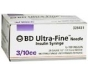 "BD Ultrafine Insulin Syringe 30 Gauge, 3/10cc, 1/2""  Needle - 100 Count"