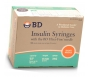 "BD Ultrafine Insulin Syringe 31 Gauge, 1cc, 5/16"" Needle -100 Count"