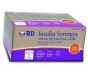 "BD Ultrafine Insulin Syringe 31 Gauge, 3/10cc, 5/16"" Needle (1/2 Unit Markings) - 100 Count"