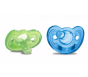 The First Years GumDrop Newborn Pacifiers, Blue/Green - 2ct