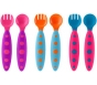 Boon Modware Toddler Utensils Purple/Blue/Pink 6ct