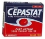 Cepastat Sugar Free Oral Anesthetic Lozenges Cherry Flavor - 18ct