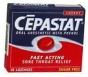 Cepastat Sugar Free Oral Anesthetic Lozenges Cherry Flavor - 18ct
