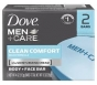 Dove Men Care Body and Face Bar Soap,Clean Comfort, 4oz- 2ct
