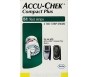 Accu-Chek Compact Plus Diabetic Test Strips - 51 Strips- Retail