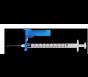 "EasyTouch® Fliplock Safety Syringe w/Exchangeable Needle, 19 Gauge, 3cc, 1.5"" - 100ct"