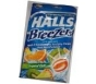 Halls Breezers Pectin Throat Drops Tropical Chill 25 Drops
