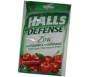 Halls Defense Supplement Drops Zinc with Vitamin C and Echinacea Harvest Cherry - 25
