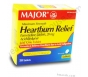 Major Heartburn Relief Maximum Strength - 50 Tablets