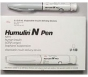 Humulin N Insulin 100 U/ml, 3ml Disposable Pen - Box of 5 Pens