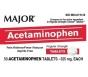 Major Acetaminophen 325mg - 50 Tablets
