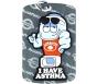 "MediMates Asthma Alert Tag Plus Ball Chain - Silver, ""Puffer"""