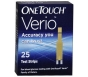 One Touch Verio Blood Glucose Test Strips- 25ct