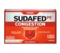 Sudafed PE Congestion Maximum Strength Sinus   Nasal Congestion Relief, 10mg- 18ct