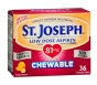 St. Joseph Chewable Aspirin Pain Reliever 81 mg Tablets Orange - 36ct