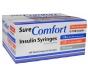 """SureComfort Insulin Syringe 30 Gauge, 1/2cc, 1/2"""" Needle - 100 Count"""