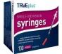 """TRUEplus Insulin Syringes 29 Gauge, 1cc, 1/2"""" Needle- 100ct"""