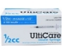 "UltiCare Insulin Syringe, 29 Gauge, 1/2cc, 1/2"" Needle - 100 Count"