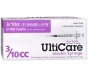 "UltiGuard U-100 Insulin Syringes 31 Gauge, 3/10cc, 5/16""- 100ct"