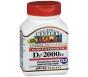 21st Century Vitamin D-2000 Maximum Strength D3 Tablet - 110ct