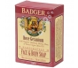 Badger Face & Body Soap, Rose Geranium - 4oz Bar